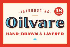 Oilvare Font Family: 55% Off by Adam Ladd on @creativemarket