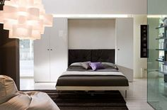 Vertical Wall Folded Bed System for Apartment Sleeping Space