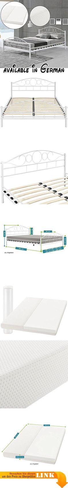 B00QUZ2IXG  Doppelbett Französisches Bett 140x200 Massivholz Kiefer - komplett schlafzimmer mit matratze und lattenrost