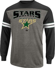 Majestic Dallas Stars Crease Long Sleeve T-Shirt Nhl Apparel 9430c18fa