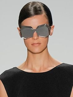 Gem-inspired sunglasses at Osklen, New York Fashion Week, Spring 2014