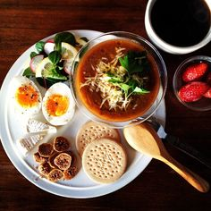 Today's breakfast. Lentil & Chickpea Soup レンズ豆とひよこ豆のスープに使ってしまいたいチーズを投入 - @keiyamazaki- #webstagram