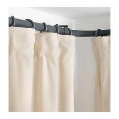 HUGAD Curtain rod corner connector - silver color, - - IKEA