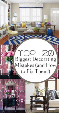 Decorating, decorating mistakes, home decor, home diy, popular pin, DIY Home decor, interior design.