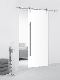 Puerta corredera de cristal Casali System White Translúcida de Maydisa.