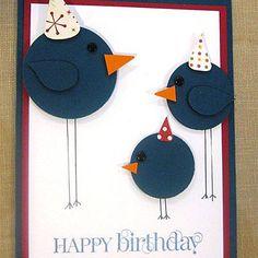 Happy Birthday Long Legged Birds Card