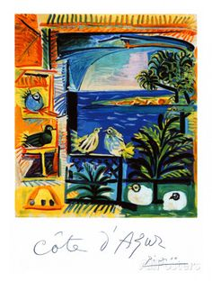Cote d'Azur The Pigeons Giclee Print - Picasso