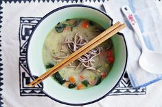 ohdeardrea: A Gut Healing Lunch: Super Fast + Super Easy Vegan Veggie Miso Soup With Buckwheat Noodles