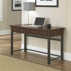 Home Styles Cabin Creek Executive Desk, Brown