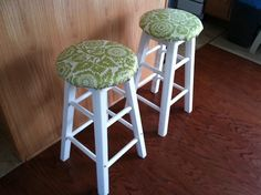 DIY stool cushions