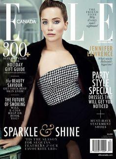 Jennifer Lawrence covers Elle Canada December 2013