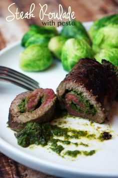 Individual Steak Roulades with Pesto — Foraged Dish