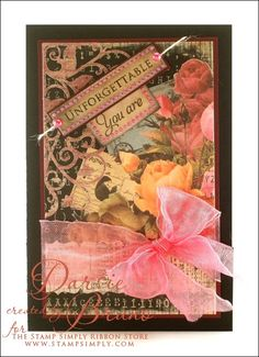 card designed by Darsie Bruno using Amazing Paper Graces stamps - Just The Right Words