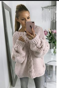 e-dziewiarka.pl Knitting Projects, Knitting Patterns, Crochet Patterns, Crochet Cable, Knitting Accessories, Classic Looks, Knitwear, Casual Outfits, Autumn Fashion