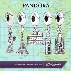 Where have you traveled this summer? Commemorate it with a charm from Pandora.  www.benbridge.com/product.php?productid=999000900