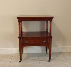 Genuine Mahogany Side Table by DEGFURNITUREDESIGNS on Etsy