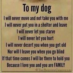 This is a promise I can, have, and will continue to keep to my furry little bundle of joy.