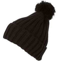 Features stretch acrylic material and thick acrylic for comfort and warmth. Band is 6 inches and 3 inches when folded over. Hat features large pom pom at top of crown, with a classic ribbed pattern design throughout in a single solid color. Acrylic Material, 6 Inches, Pattern Design, Winter Hats, Beanie, Cap, Crown, Unisex, Classic