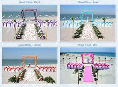Beach wedding colours #beach #wedding