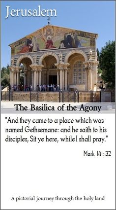 The Basilica of the Agony, in Jerusalem, is built amidst the old olive trees of the Garden of Gethsemane | Click on this pin to join our amazing pictorial journey along the trails of Jesus...