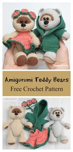 Amigurumi Honey Teddy Bears in Love Free Crochet Pattern #freecrochetpatterns #amigurumi #bears