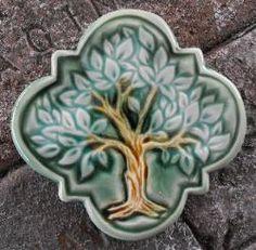 Tree of Life Quatrefoil Tile - stove backsplash Craftsman Tile, Stove Backsplash, Quatrefoil, Tile Art, Bathroom Flooring, Decorative Items, Hand Carved, Nature Photography, Mosaic