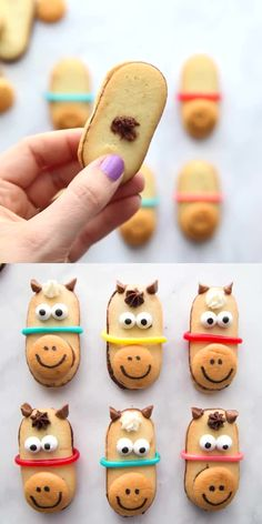 No Bake Horse Cookies No Bake Horse Cookies are perfect for a Kentucky derby party, triple crown races, or horse themed parties! These horse cookies are the best no bake cookies! Camping Desserts, Camping Meals, Camping Hacks, Easy Desserts, Best No Bake Cookies, Cute Cookies, Kawaii Cookies, Cookies Kids, Hallowen Food