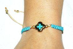 Hematite bracelet/cross hematite bracelet/gift for her/turqoise bracelet/sky blue bracelet/coral bracelet/ivory bracelet/copper hematite by AndyCollectionJewels on Etsy