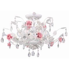 Transitional Antique White 6-light Semi-flush Light Fixture | Overstock.com Shopping - The Best Deals on Flush Mounts