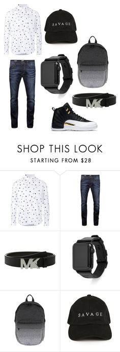 """""""Untitled #58"""" by sammywe ❤ liked on Polyvore featuring Uniform Experiment, Jack & Jones, Michael Kors, Rebecca Minkoff, Herschel, men's fashion and menswear"""