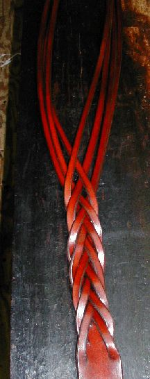 7-strand mystery braid leather belt