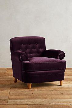 Velvet Kimmeridge Armchair