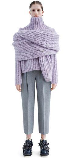 purple & grey melange