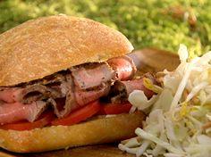 Ciabatta Steak Sandwich Recipe : Food Network - FoodNetwork.com