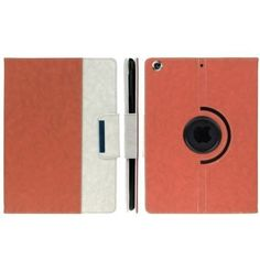 For+iPad+Air+Orange+Rotatable+Denim+PU+Leather+Smart+Cover+Case+with+Holder,+ENK-3155