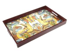 Artist Robert Schneider 100 Birds Art Lacquer Tray Courtesy of InStyle-Decor.com Beverly Hills Inspiring & supporting Hollywood interior design professionals and fans, sharing beautiful luxe home decor inspirations, trending 1st in Hollywood Repin, Share & Enjoy