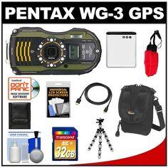 Pentax WG-3 Shock & Waterproof GPS D...