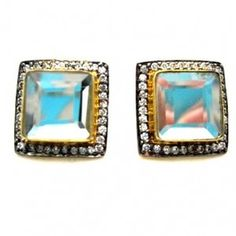 Meghna Designs Mirror Stud Square Earring