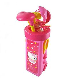 Take a look at this Hello Kitty Golf Caddy Set by Hello Kitty on #zulily today!