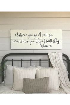These farmhouse wooden wall signs are so beautiful. I love all of the sayings. If Only I could have enough rooms in my house to hang them all. #farmhousedecor #ad #loveit #homedecorating