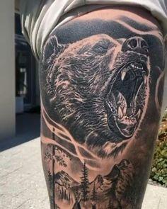 Full leg sleeve by artist @walshy_tattoos with @beyondtheillusiontattoo studio from Western Australia via instagram Leg Band Tattoos, Flower Leg Tattoos, Upper Leg Tattoos, Full Leg Tattoos, Body Art Tattoos, Animal Sleeve Tattoo, Leg Tattoo Men, Arm Sleeve Tattoos, Lion Tattoo Sleeves