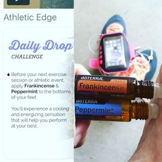 Anytime that I'm doing an exercising I like to put these oils on my feet to keep me cool and energetic. I also use respiratory blend on my chest to help me breathe. Have you tried any oils to assist you in your activities before and after? If so let us know. #running #walk #athlete #breathe #active #energize #dailydrop #renewyouholistichealth @renewyouholistictherapy