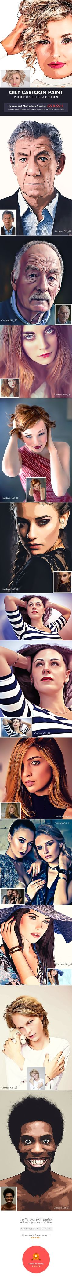Oily Cartoon Paint Action - #Photo Effects #Actions Download here: https://graphicriver.net/item/oily-cartoon-paint-action/19453435?ref=alena994