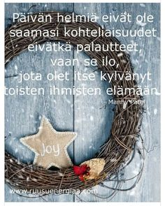 Finnish Words, Something Interesting, Happy Day, Grapevine Wreath, Motto, Cool Words, Poems, Merry Christmas, Reading