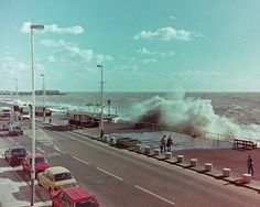 Rough Sea St Leonards On Sea on promenade Hastings Seafront, Hastings East Sussex, Kent Coast, South East England, Rough Seas, Ancient Buildings, Extreme Weather, Sandy Beaches, Old Photos