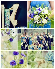 Blue and White Country Wedding Details