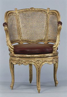 DESK CHAIR, circa 1760, French. The collection of the Metropolitan Museum of Art.