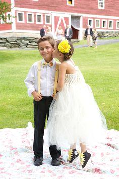Sweet kids at a rustic country get away wedding, photos by Sarah DiCicco Photography | junebugweddings.com