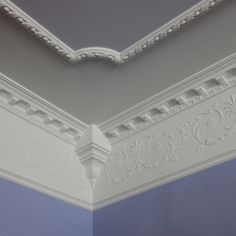 A lincrusta frieze adds elegant detail to the crown molding of this 2013 Reader Remodel Contest entry. Molding Ceiling, Wall Molding, Moulding, Plafond Staff, Moldings And Trim, Crown Moldings, Stuck, Ceiling Treatments, Ceiling Detail
