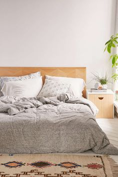 T-Shirt Heathered Jersey Duvet Snooze Set - Urban Outfitters